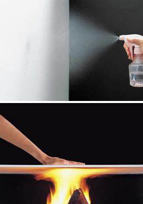 モイスの調湿機能と耐火実験